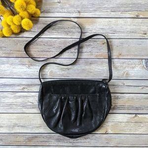 Vintage 1980's Black Leather Mini Bag